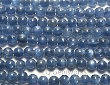 "15.5"" Strand BLUE KYANITE 6mm Round Beads  AA NATURAL"