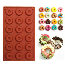 18-Cavity Donut Doughnut Baking Mold Cake Chocolate Cookie Candy Mould Silicone
