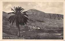 Tenerife Spain Villa Orotava Pico de Teide Real photo Postcard J49895