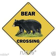 "Bear Metal Crossing Sign 16 1/2"" x 16 1/2"" Diamond shape #47"