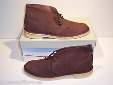 Clarks Originals Desert Boots Mens Size 13 M Reddish Brown Nubuck Leather Shoes
