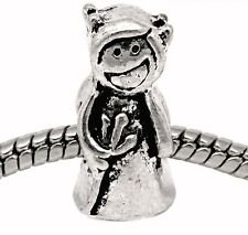 Devil Pitch Fork Evil Halloween Bead for Silver European Style Charm Bracelets