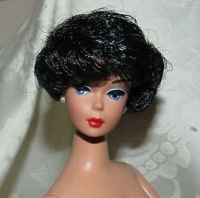 NUDE BARBIE DOLL VINTAGE REPRO REPRODUCTION BUBBLE CUT BLACK HAIR FOR OOAK