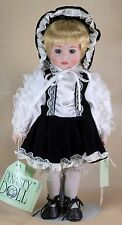"""Dynasty Collection Peggy Porcelain Doll 13"""" Blond Hair Blue Eyes"""