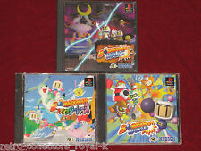 PS1 BOMBERMAN WARS + WORLD + FANTASY RACING NTSC-J Japan PlayStation Bomber Man
