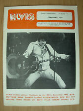 ELVIS PRESLEY FAN CLUB MAGAZINE FEBRUARY 1975