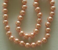 "10MM Peachy Keen Golden South Sea Shell Pearl Necklace 18"" NEW (silk gift bag)"