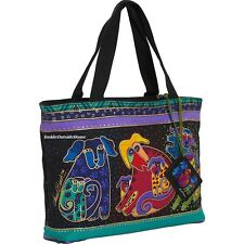 Laurel Burch Dancing Dogs Doggies Medium Small Tote Hand Bag Puppies New