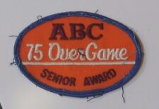 ABC 75 Over Game Senior Award Embroidered Patch American Bowling Team Sports Old