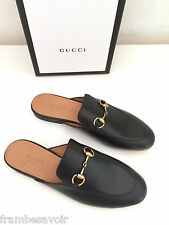 Gucci Princetown Horsebit Slippers slip Flats Mules Loafers black 36.5 6.5 36 6