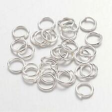 300 x SILVER PLATED Iron STRONG 5mm Split Jump Rings Craft Jewellery Making