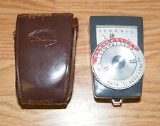 Vintage Sekonic Auto-Lumi (86) Light Meter w/ Leather Brown Case Bundle - JAPAN