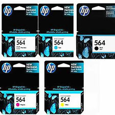 5 Pack Genuine HP 564 set ink Cartridges Black Photo Black Cyan Magenta Yellow