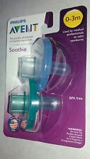 Philips Avent  Soothie Pacifier, 0-3 Months, 2 Pack ( Blue and Green)