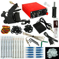 OPHIR  Beginner Tattoo Kits Machine Tattoo Kit Nozzle Needle Foot Switch _TA114
