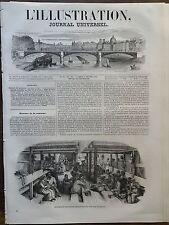 L'ILLUSTRATION 1849 N 311 LES EMIGRANTS POUR LA CALIFORNIE AMENAGEMENT D'UN NAVI