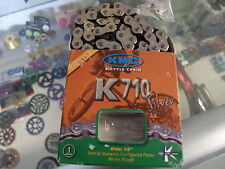 "KMC K710 KOOL FIXED--BMX BICYCLE BLACK/SILVER 1/2"" X 1/8""  CHAIN"