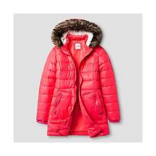 NEW Cat & Jack Girl's Long Puffer Jacket - Pink - Size - Large