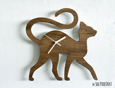 Cat Walking - Wooden Wall Clock