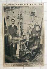 1923 Cathode Oscillograph Designed By Prof Dufour Records Millionth Of A Second