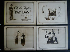 CHARLIE CHAPLIN - RARE 1922 COMPLETE 8 LOBBY CARD SET W/ENVELOPE- PAY DAY SILENT
