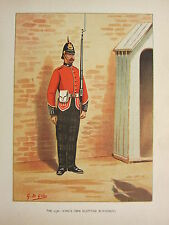 1905 ANTIQUE MILITARY PRINT ~ 25th KING'S OWN SCOTTISH BORDERERS ~ BRITISH