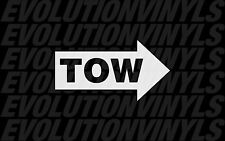 (2) Tow Hook V2 Sticker Decal FCK Drift Autocross Stance Illest Fresh Ill