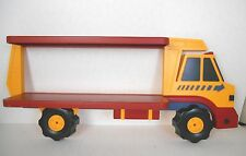 KIDS ROOM DÉCOR PLASTIC TRUCK WALL SHELF PRIMARY COLORS HOME INTERIORS