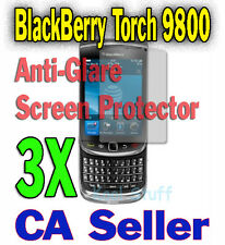 3X Anti-Glare Screen Protector BlackBerry Torch 9800 9810