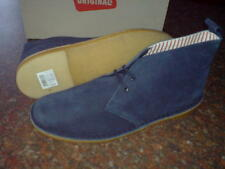 NEW CLARKS ORIGINALS ** DESERT  BOOTS ** X JAGUAR NAVY LEATHER **  UK 7.5 F