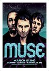 MUSE Nashville 2010 Concert Poster Art Daymon Greulich
