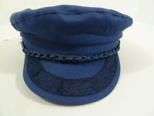 AUTHENTIC GREEK Aegean Vintage Fisherman Captain Sailor Cap Hat Retro Greece Blu