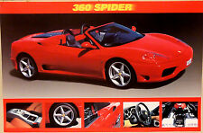 (PRL) FERRARI 360 SPIDER SPORTS CAR AUTO EPOCA VINTAGE AFFICHE ART PRINT POSTER