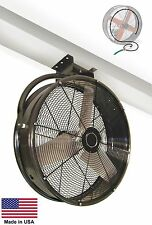 "48"" CEILING MOUNT FAN & MISTER COM - 1 Hp - 19,100 CFM - 115V - 850 RPM - 9 Amps"