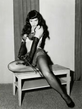 "BETTIE Betty PAGE WHIP bdsm Photo A2 CANVAS PRINT Art 18""X 24"""