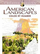 Dover: Creative Haven American Landscapes Color by Number Coloring Book