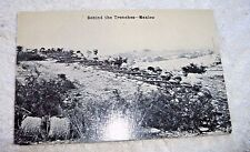 VINTAGE  REAL PHOTO POSTCARD MEXICO REVOLUTION SOLDIERS TRENCHES c.1915