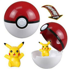 POKEMON Pokeball Pop-up Plastic BALL Game Kids Toy + Free Gift Pikachu Figure