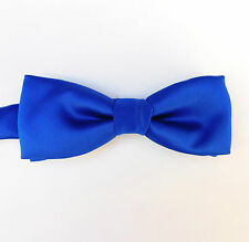 Blue bow tie collar sizes 10 11 12 13 14 15 16 17 18 Pre-tied Made in Engand