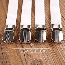 8pcs Bed Sheet Straps Holder Fasteners Clasps Grippers Clip Metal Multipurpose