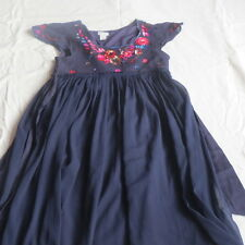 Monsoon beautiful navy 11-12 yrs girl's dress with sequined flowers. Worn once.