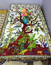 Tablecloth Rectangular Cotton Dining Table Cover Tree of Life Kitchen Banquet