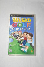 Minna No Golf Everybody's Golf Sony PlayStation Portable PSP NTSC-J UCJS 10001