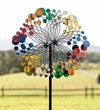 Garden Wind Spinner Metal Sculpture Yard Lawn Art Statue Outdoor Decor Bubbles
