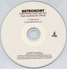 METRONOMY Everything Goes My Way 2011 UK 2-trk promo CD