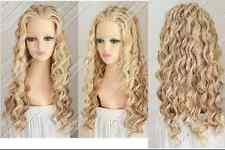 A0  Cos light blonde mix long curly cosplay full wig +gift