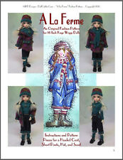 """A La Ferme"" 18 inch Ball Jointed Doll BJD Kaye Wiggs Fashion Clothing Pattern"