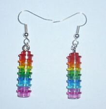 LEGO Rainbow Earrings *DIY*1x1 Stacks*Trans*