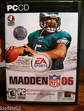 Madden NFL 06 PC CD Football Video Game US version 3 Disc Full License EUC
