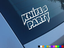 KNIFE PARTY CAR LAPTOP DECKS STICKER DECAL ELECTRO HOUSE FUNNY VINYL DEADMAU5